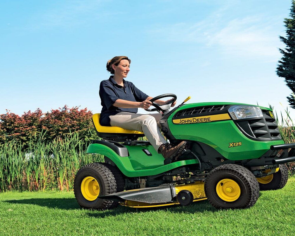 electric riding lawn mower on amazon